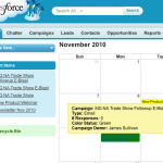 Salesforce Marketing Calendar