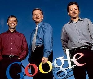 eric schmidt larry page sergey brin google 300x255 Google Changes CEOs As Fourth Quarter Profit Rises 29%