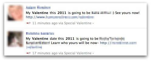find valentine messages Facebook Valentines Day Scam