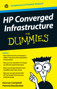 HP Converged Infrastructure 194x300 HP Converged Infrastructure For Dummies   FREE eBook