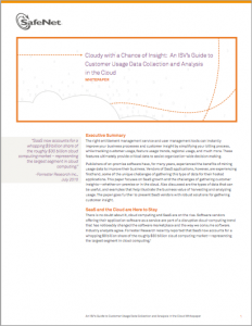safenet isv cloud 232x300 Cloudy with a Chance of Insight: An ISVs Guide to Customer Usage Data Collection in the Cloud