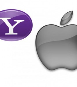Yahoo Apple logo 267x300 Apple and Yahoo Talking About Closer Mobile Collaboration