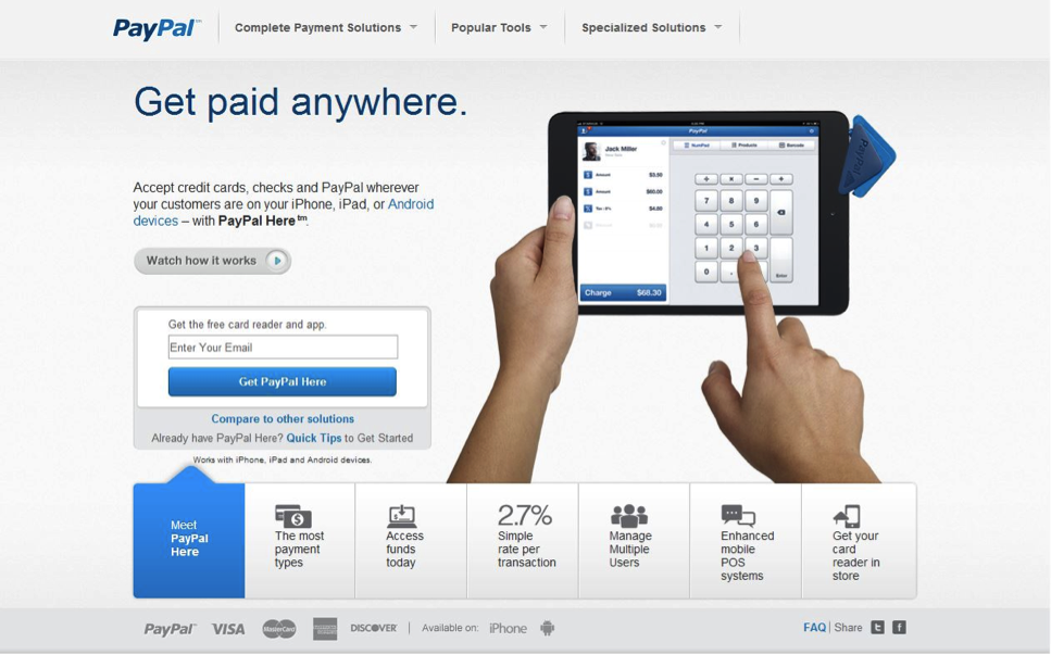 paypal1 PayPal, Square and Groupon: Who Will Win the MPOS Battle?